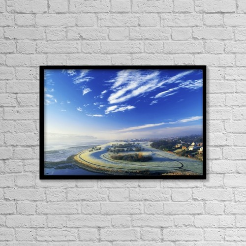 "Printscapes Wall Art: 18"" x 12"" Canvas Print With Black Frame - Co Derry, Ireland by The Irish Image Collection"