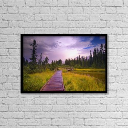 "Printscapes Wall Art: 18"" x 12"" Canvas Print With Black Frame - Policeman's Creek, Alberta, Canada by Carson Ganci"