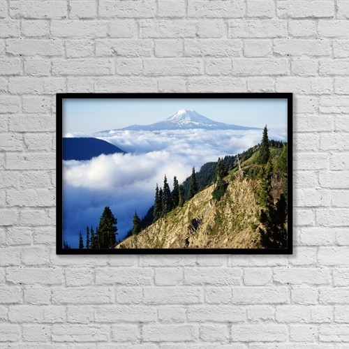 "Printscapes Wall Art: 18"" x 12"" Canvas Print With Black Frame - Scenic by Dan Sherwood"
