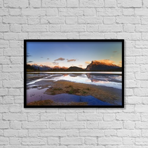 "Printscapes Wall Art: 18"" x 12"" Canvas Print With Black Frame - Banff National Park, Alberta, Canada by Carson Ganci"