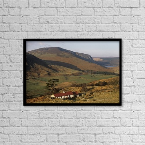 """Printscapes Wall Art: 18"""" x 12"""" Canvas Print With Black Frame - Travel by The Irish Image Collection"""