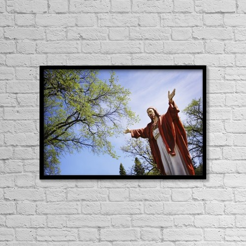 "Printscapes Wall Art: 18"" x 12"" Canvas Print With Black Frame - Christian Faith by Kristy-Anne Glubish"