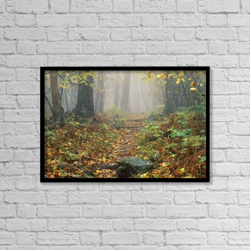 "Printscapes Wall Art: 18"" x 12"" Canvas Print With Black Frame - Shenandoah National Park In Virginia by Bilderbuch"