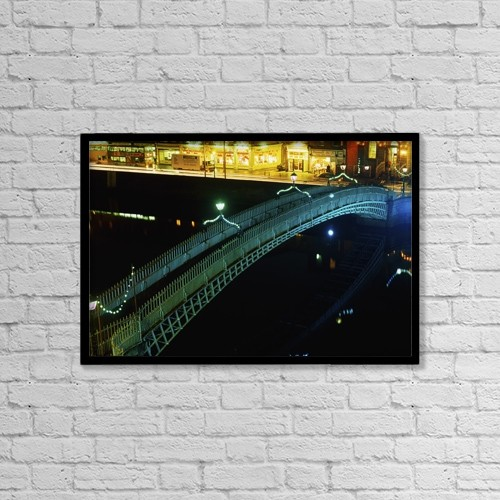 """Printscapes Wall Art: 18"""" x 12"""" Canvas Print With Black Frame - Architectural Exteriors by The Irish Image Collection"""