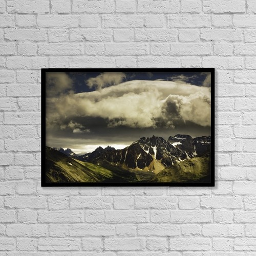 "Printscapes Wall Art: 18"" x 12"" Canvas Print With Black Frame - Scenic by Darren Greenwood"
