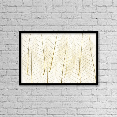 "Printscapes Wall Art: 18"" x 12"" Canvas Print With Black Frame - Layered Leaves by Kelly Redinger"