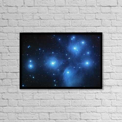 "Printscapes Wall Art: 18"" x 12"" Canvas Print With Black Frame - Stars by Steve Nagy"