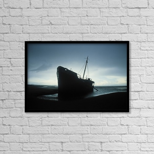 "Printscapes Wall Art: 18"" x 12"" Canvas Print With Black Frame - Transportation by The Irish Image Collection"