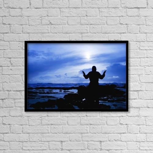 "Printscapes Wall Art: 18"" x 12"" Canvas Print With Black Frame - Christian Faith by Christine Mariner"