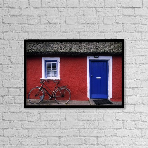 "Printscapes Wall Art: 18"" x 12"" Canvas Print With Black Frame - Architectural Exteriors by The Irish Image Collection"