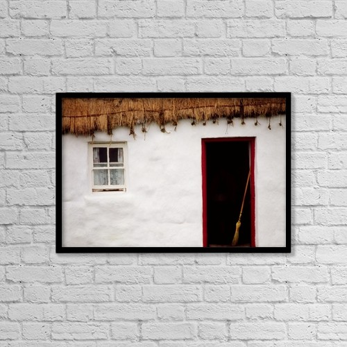 """Printscapes Wall Art: 18"""" x 12"""" Canvas Print With Black Frame - Co Galway, Ireland by The Irish Image Collection"""