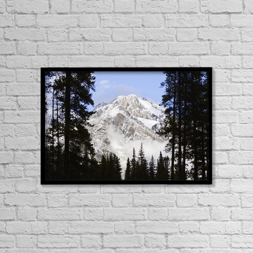 "Printscapes Wall Art: 18"" x 12"" Canvas Print With Black Frame - Scenic by Richard Wear"