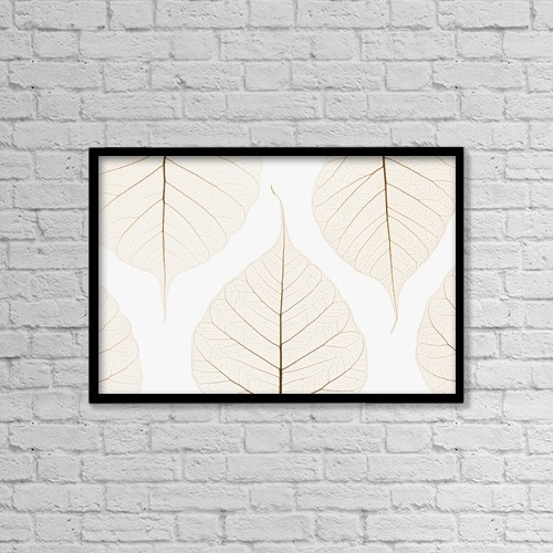 "Printscapes Wall Art: 18"" x 12"" Canvas Print With Black Frame - Arranged Leaves by Kelly Redinger"