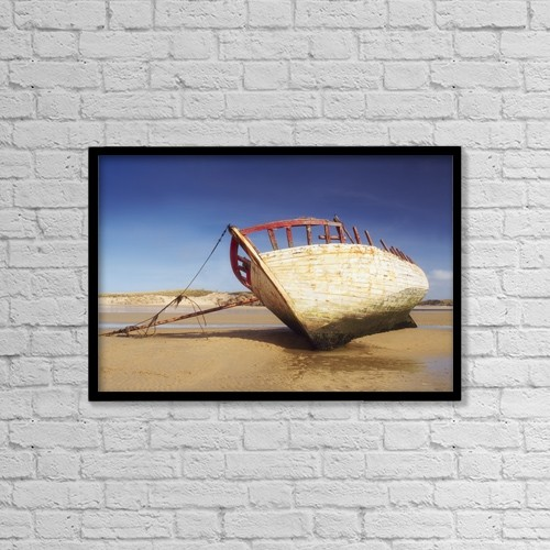 "Printscapes Wall Art: 18"" x 12"" Canvas Print With Black Frame - Co Donegal, Ireland by The Irish Image Collection"