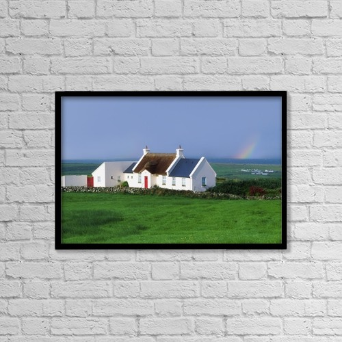"""Printscapes Wall Art: 18"""" x 12"""" Canvas Print With Black Frame - Doolin, Co Clare, Ireland by The Irish Image Collection"""