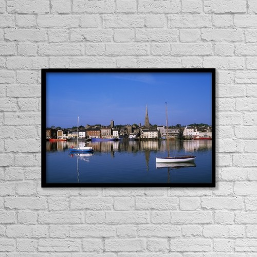 """Printscapes Wall Art: 18"""" x 12"""" Canvas Print With Black Frame - Wexford, Co Wexford, Ireland by The Irish Image Collection"""