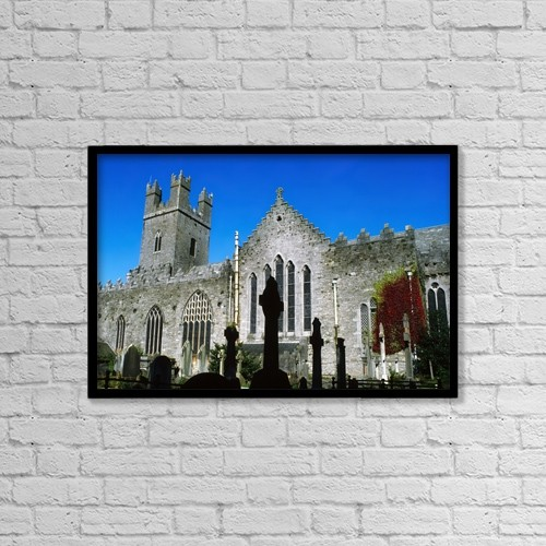 "Printscapes Wall Art: 18"" x 12"" Canvas Print With Black Frame - Christian Faith by The Irish Image Collection"