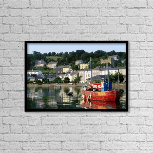 """Printscapes Wall Art: 18"""" x 12"""" Canvas Print With Black Frame - Industry by The Irish Image Collection"""