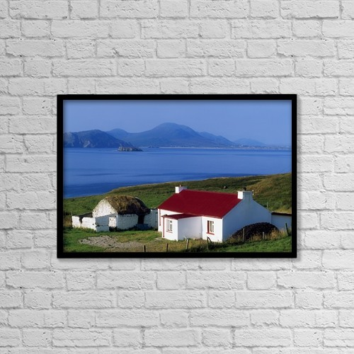 "Printscapes Wall Art: 18"" x 12"" Canvas Print With Black Frame - Co Donegal, Malin Head by The Irish Image Collection"