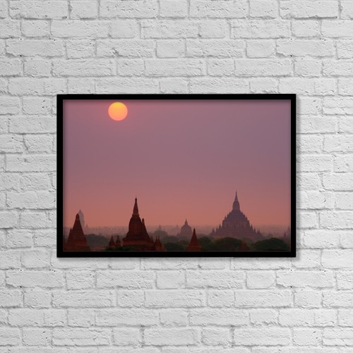 "Printscapes Wall Art: 18"" x 12"" Canvas Print With Black Frame - Religious by Carson Ganci"