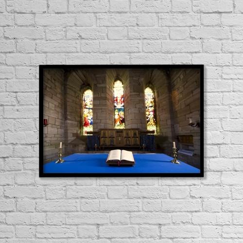 "Printscapes Wall Art: 18"" x 12"" Canvas Print With Black Frame - Christian Faith by John Short"