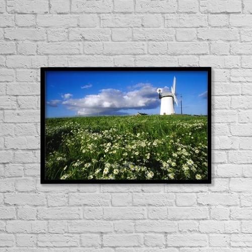 "Printscapes Wall Art: 18"" x 12"" Canvas Print With Black Frame - Millisle, County Down, Ireland by Richard Cummins"