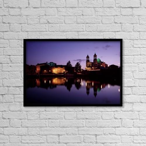 "Printscapes Wall Art: 18"" x 12"" Canvas Print With Black Frame - Travel by Richard Cummins"