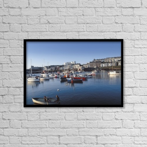 "Printscapes Wall Art: 18"" x 12"" Canvas Print With Black Frame - Industry by The Irish Image Collection"