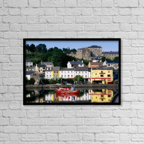"""Printscapes Wall Art: 18"""" x 12"""" Canvas Print With Black Frame - Co Cork, Kinsale by The Irish Image Collection"""