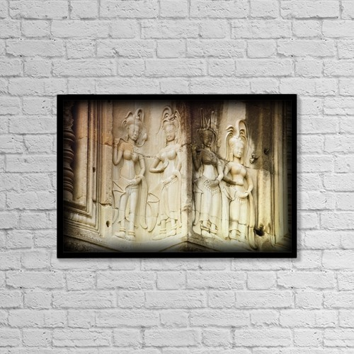 """Printscapes Wall Art: 18"""" x 12"""" Canvas Print With Black Frame - Artwork and Paintings by Carson Ganci"""