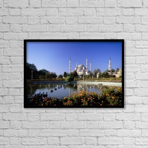 """Printscapes Wall Art: 18"""" x 12"""" Canvas Print With Black Frame - Religious by The Irish Image Collection"""