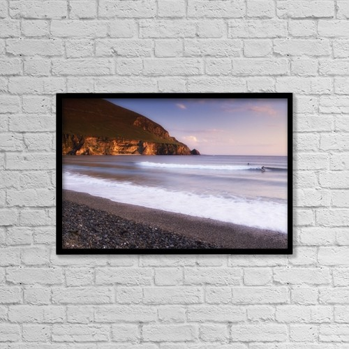 "Printscapes Wall Art: 18"" x 12"" Canvas Print With Black Frame - Travel by The Irish Image Collection"