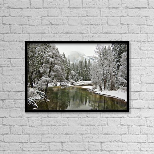 "Printscapes Wall Art: 18"" x 12"" Canvas Print With Black Frame - Scenic by Robert Brown"