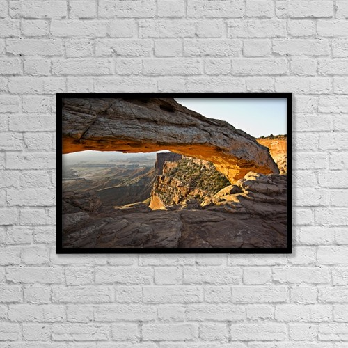 """Printscapes Wall Art: 18"""" x 12"""" Canvas Print With Black Frame - Nature by Robert Brown"""