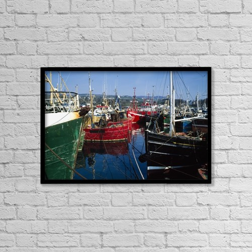 "Printscapes Wall Art: 18"" x 12"" Canvas Print With Black Frame - Nautical by The Irish Image Collection"