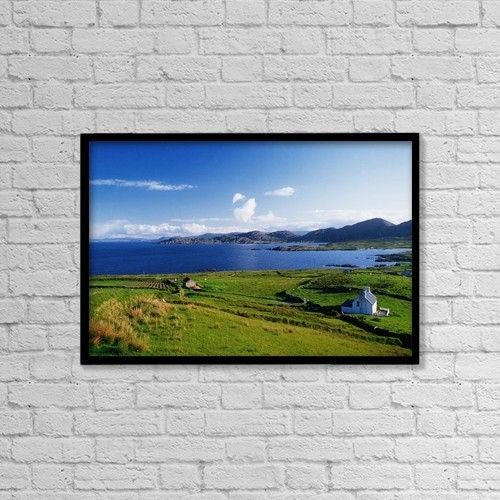 "Printscapes Wall Art: 18"" x 12"" Canvas Print With Black Frame - scenic by The Irish Image Collection"