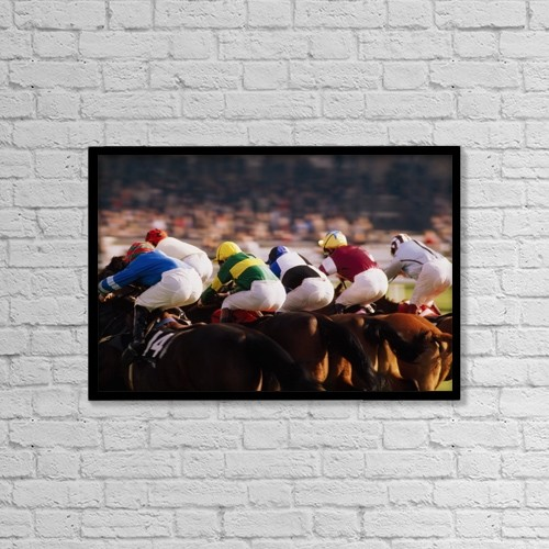"Printscapes Wall Art: 18"" x 12"" Canvas Print With Black Frame - Sports and Recreation by The Irish Image Collection"