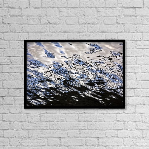 "Printscapes Wall Art: 18"" x 12"" Canvas Print With Black Frame - Water Reflections by Chris Upton"