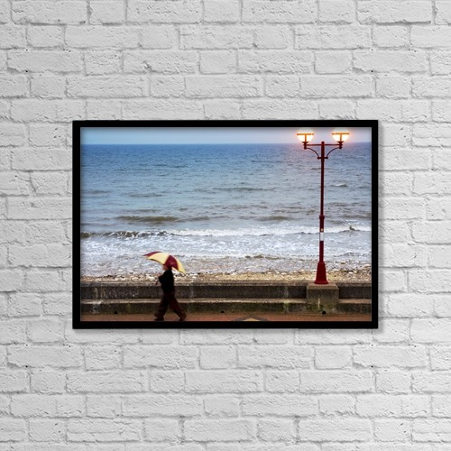 "Printscapes Wall Art: 18"" x 12"" Canvas Print With Black Frame - Lifestyle by John Short"