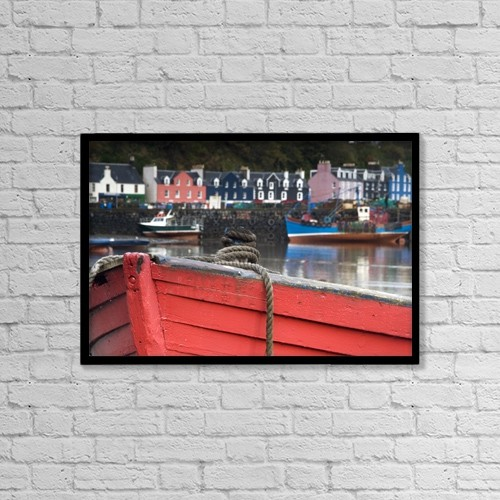"""Printscapes Wall Art: 18"""" x 12"""" Canvas Print With Black Frame - Nautical by John Short"""