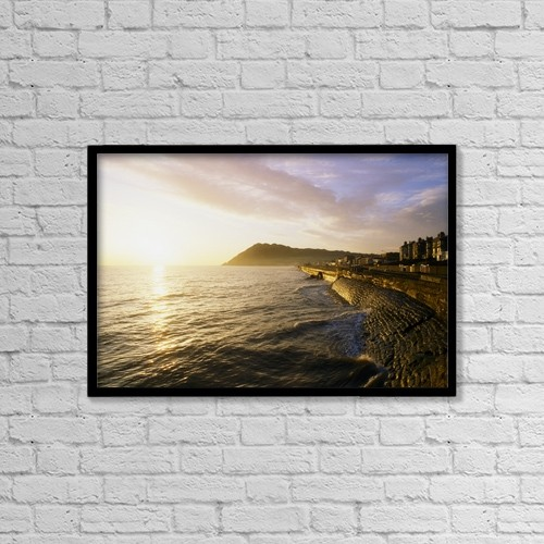 """Printscapes Wall Art: 18"""" x 12"""" Canvas Print With Black Frame - Scenic by The Irish Image Collection"""