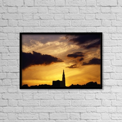 "Printscapes Wall Art: 18"" x 12"" Canvas Print With Black Frame - Tramore, Co Waterford, Ireland by The Irish Image Collection"
