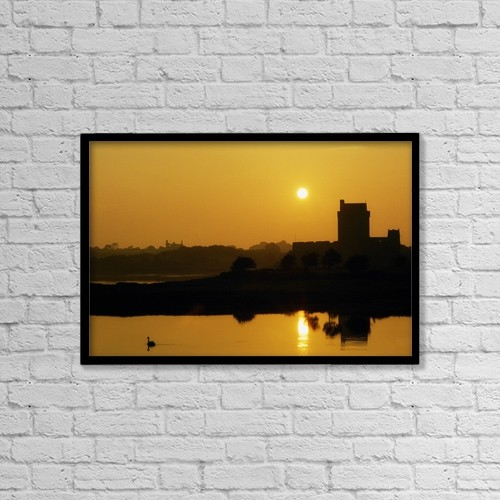 "Printscapes Wall Art: 18"" x 12"" Canvas Print With Black Frame - Historic & Vintage by The Irish Image Collection"