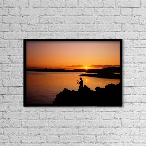 """Printscapes Wall Art: 18"""" x 12"""" Canvas Print With Black Frame - Sports and Recreation by The Irish Image Collection"""
