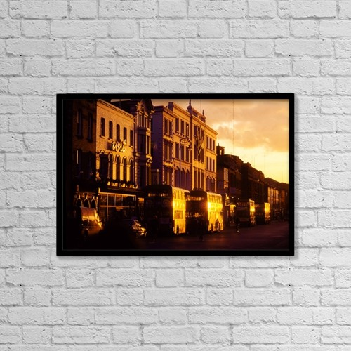 "Printscapes Wall Art: 18"" x 12"" Canvas Print With Black Frame - Dublin, Co Dublin, Ireland by The Irish Image Collection"