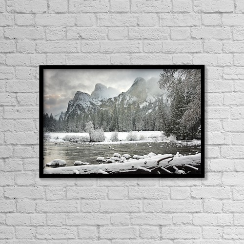 "Printscapes Wall Art: 18"" x 12"" Canvas Print With Black Frame - Yosemite National Park, California, Usa by Robert Brown"