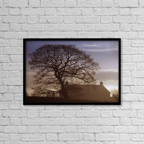 """Printscapes Wall Art: 18"""" x 12"""" Canvas Print With Black Frame - County Tyrone, Ireland; Winter Morning by Gareth McCormack"""