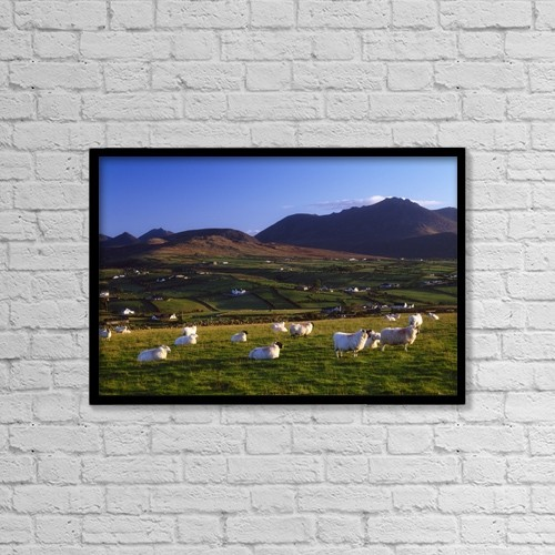 """Printscapes Wall Art: 18"""" x 12"""" Canvas Print With Black Frame - Animals by Gareth McCormack"""