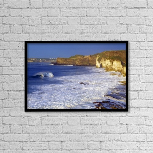 "Printscapes Wall Art: 18"" x 12"" Canvas Print With Black Frame - County Antrim, Ireland by Gareth McCormack"