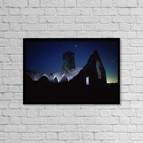 "Printscapes Wall Art: 18"" x 12"" Canvas Print With Black Frame - Killcrea Priory, County Cork, Ireland by Richard Cummins"